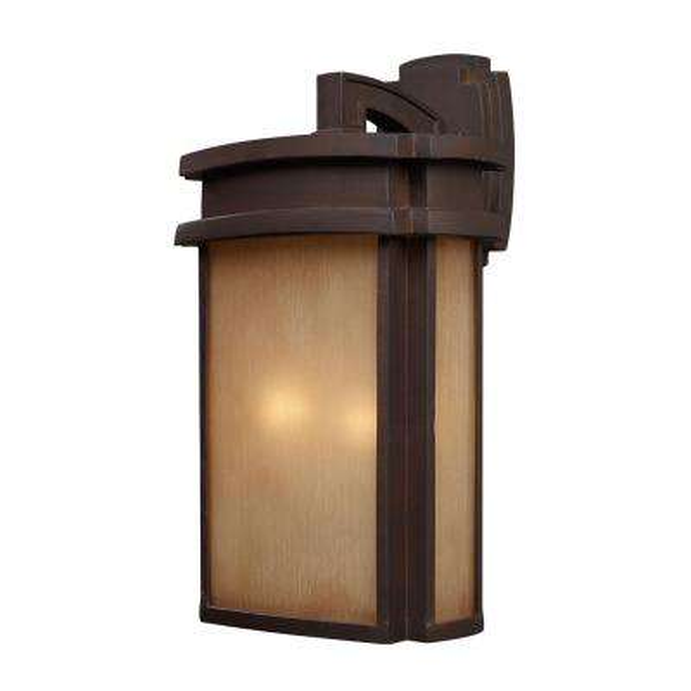 Sedona 2-Light Outdoor Clay Bronze Wall Sconce