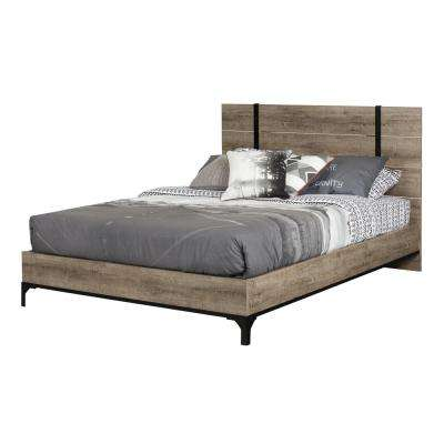 Valet Weathered Oak Queen Platform Bed