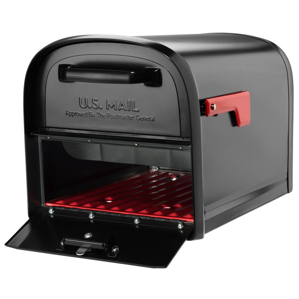 Oasis 360 Locking Parcel Mailbox With 2 Access Doors Black