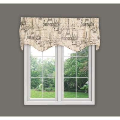 Parisian 16 in. L Cotton Lined Scallop Valance in Natural