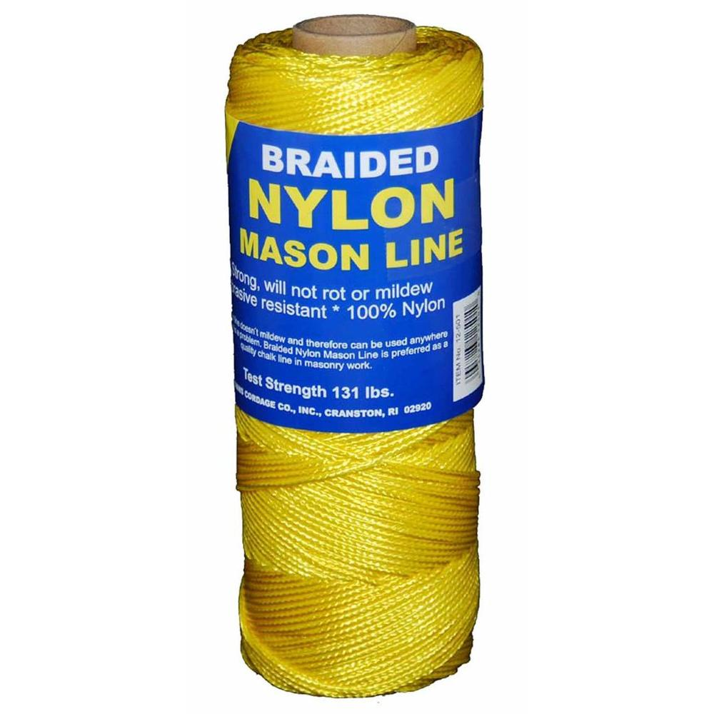 T.W. Evans Cordage #1 x 1000 ft. Braided Nylon Mason Line in Yellow