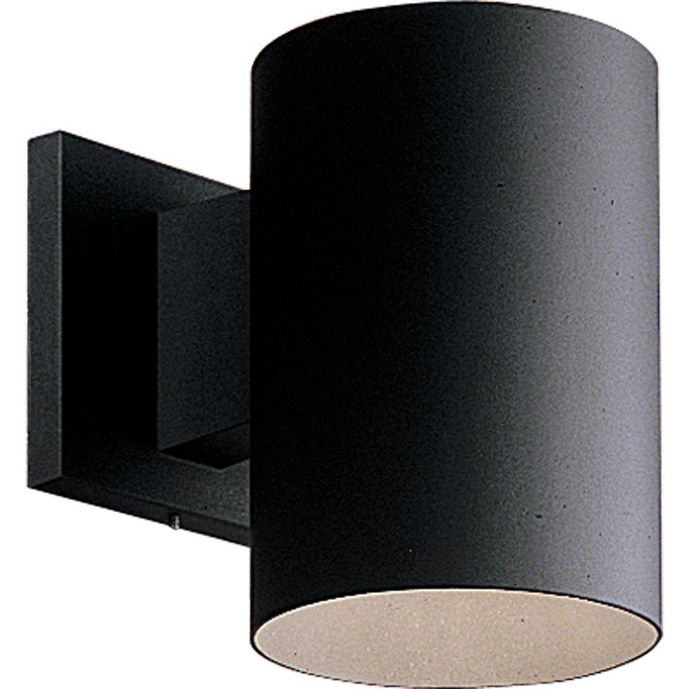 Progress Lighting 1-Light Black 7.25 in. Outdoor Wall Lantern