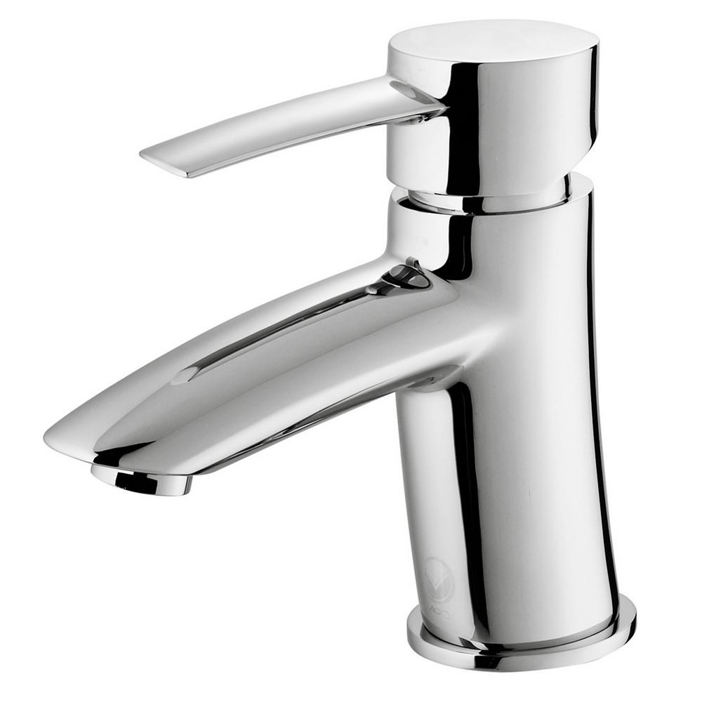 kitchen sink faucets at home depot vigo single single handle bathroom faucet in chrome 27170