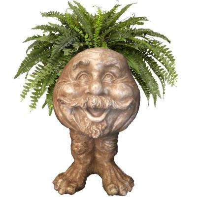 18 in. Stone Wash Uncle Nate the Muggly Statue Face Planter Holds 7 in. Pot