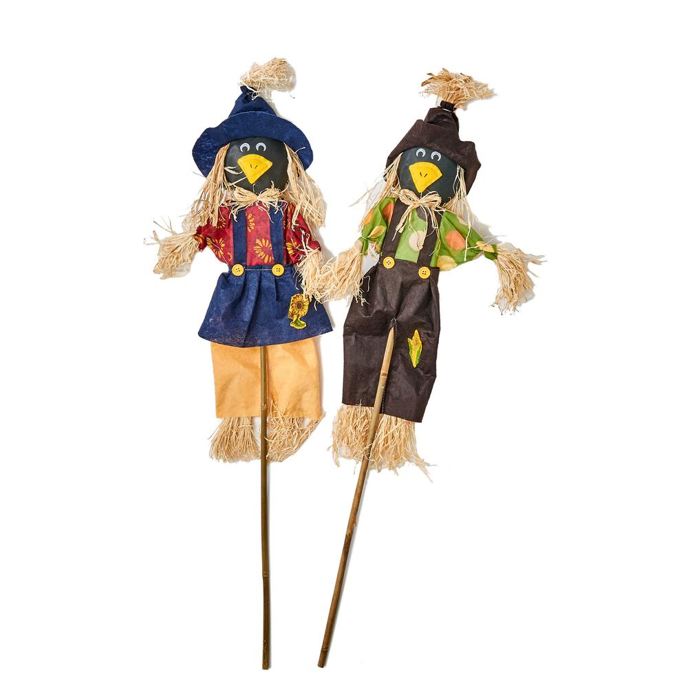 Worth Imports 36 in. Crow on Stick (Set of 2)