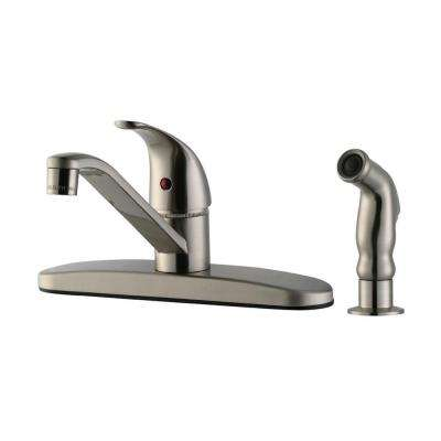 Middleton Single-Handle Standard Kitchen Faucet with Side Sprayer in Satin Nickel