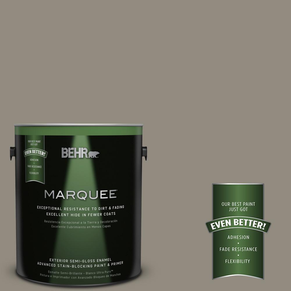 BEHR MARQUEE 1-gal. #MQ6-25 Pavement Gray Semi-Gloss Enamel Exterior Paint