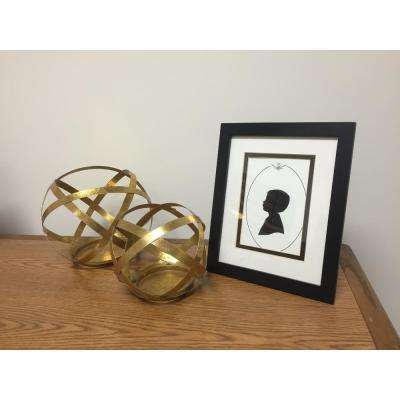 6 in. Gold Metal Sphere Candle Holder