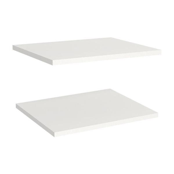 Impressions White Shelves for 16 in. W Impressions Tower (2-Pack)
