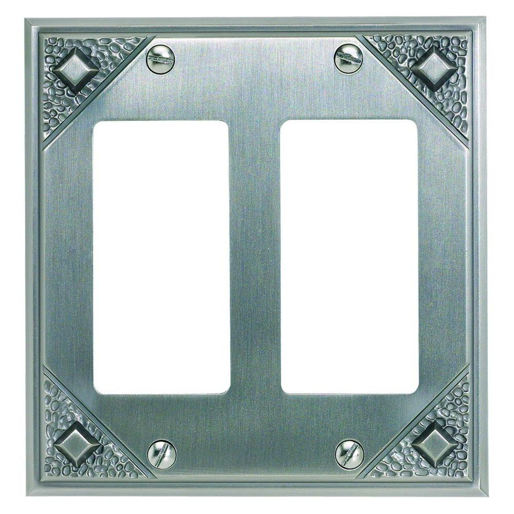 Atlas Homewares Craftsman 2 Rocker Metal Wall Plate - Pewter