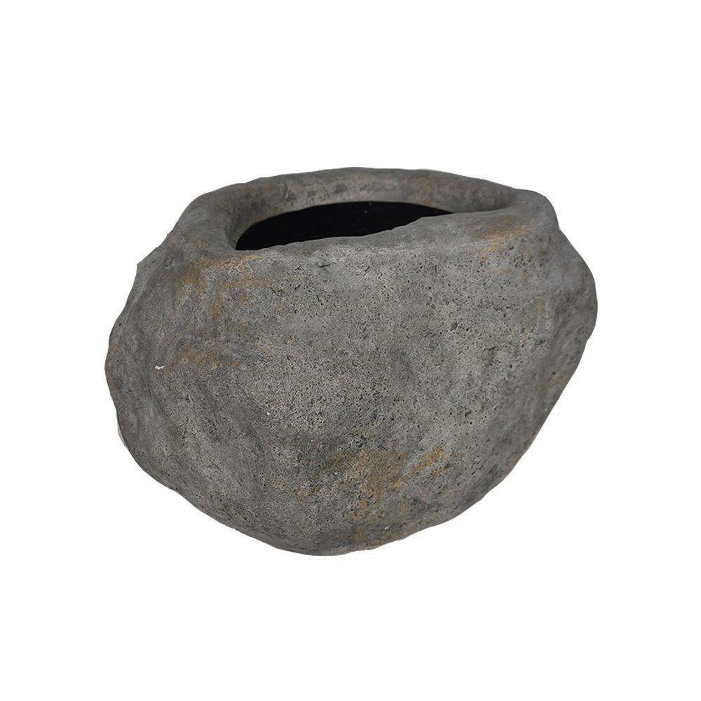 11 in. W x 9.5 in. H Dark Granite Cast Stone Rock Planter02