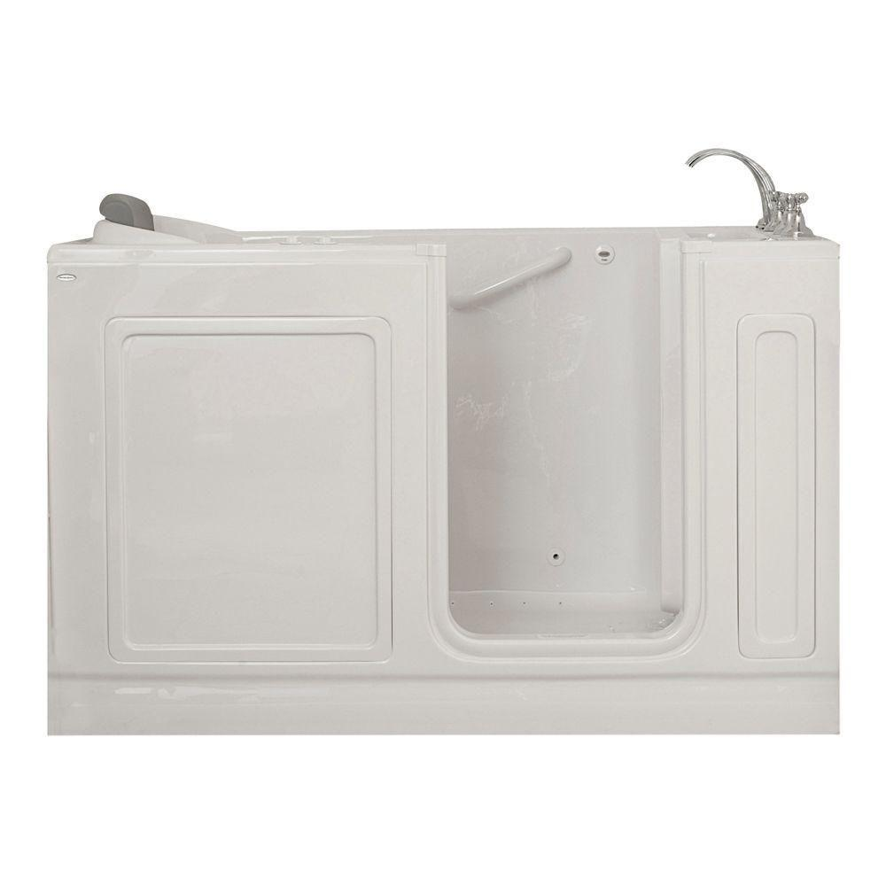 American Standard Acrylic Standard Series 60 in. x 32 in. Walk-In Whirlpool and Air Bath Tub with Quick Drain in White
