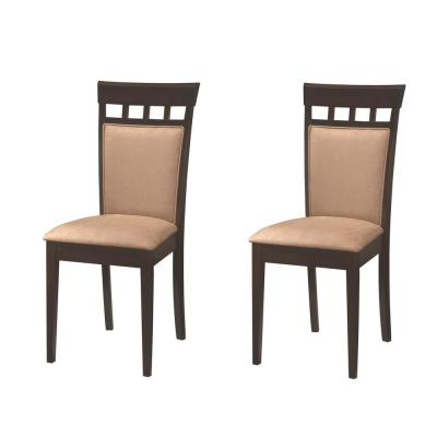 Gabriel Collection Cappuccino and Beige Side Chair (Set of 2)
