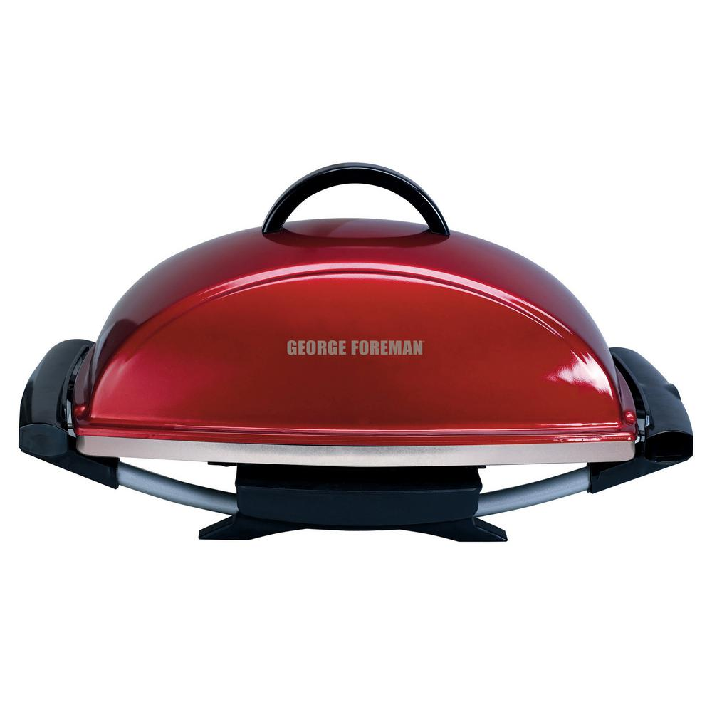 George Foreman Indoor/Outdoor Electric Grill in Red