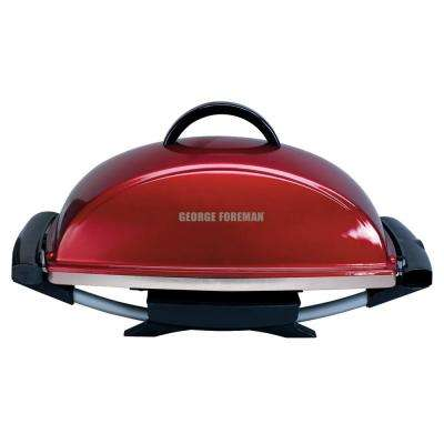 Indoor/Outdoor Electric Grill in Red