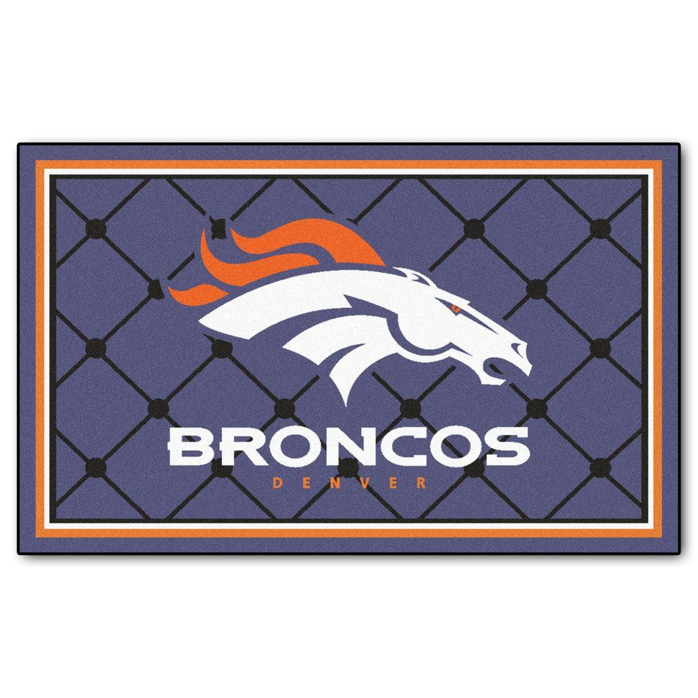 Fanmats Denver Broncos 4 Ft X 6 Ft Area Rug 6573 The