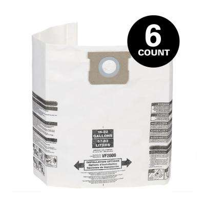 15 Gal. to 22 Gal. Dust Collection Bags for Shop-Vac Wet/Dry Vacuums (6-Pack)