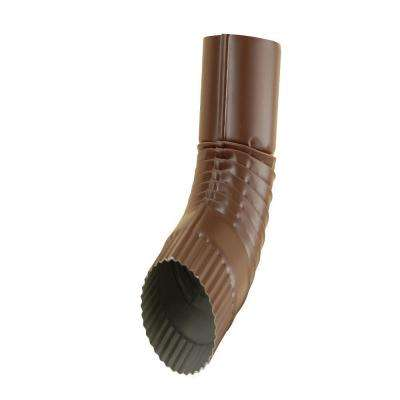 4 in. Royal Brown Half-Round Plain Round 75 Degree Elbow
