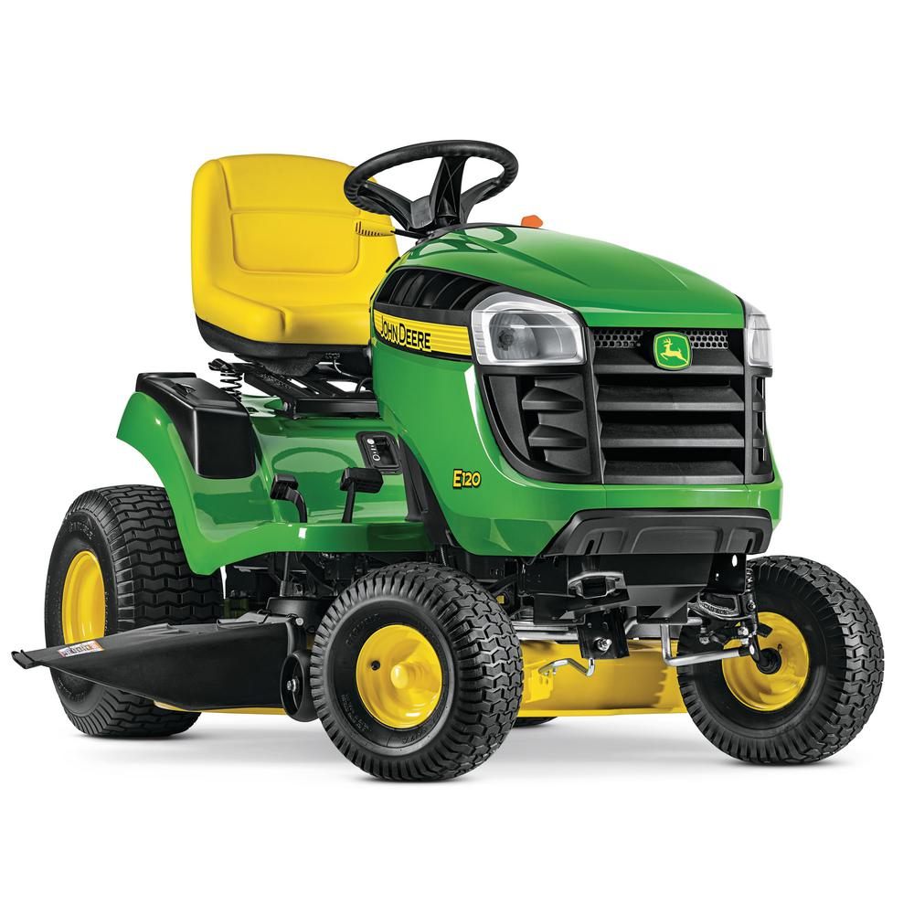 John Deere E120 42 in  20 HP V-Twin Gas Hydrostatic Lawn Tractor-California  Compliant
