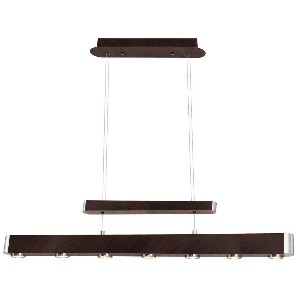 Eglo Chicago 7-Light Ceiling Mount Antique Brown and Matte Nickel Island Pendant-DISCONTINUED