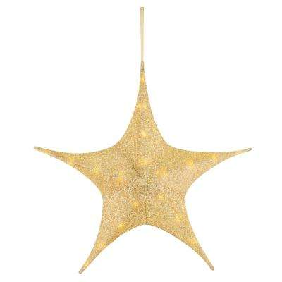 25 in. Gold Tinsel Star