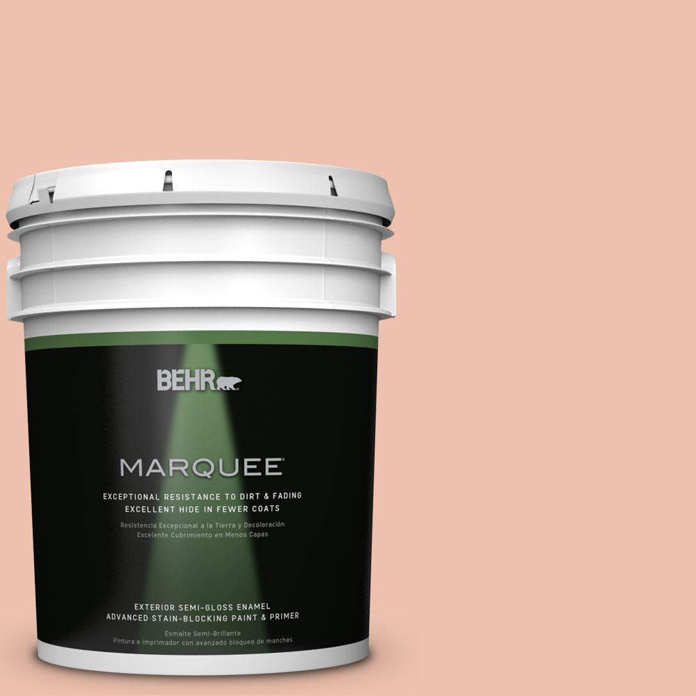 5-gal. #M180-3 Flamingo Feather Semi-Gloss Enamel Exterior Paint