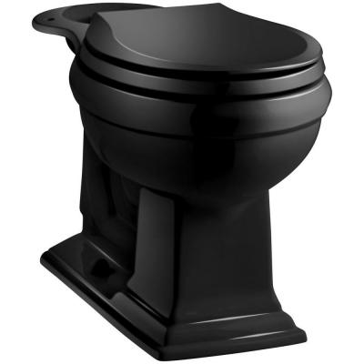 Memoirs Comfort Height Round Front Toilet Bowl Only in Black Black