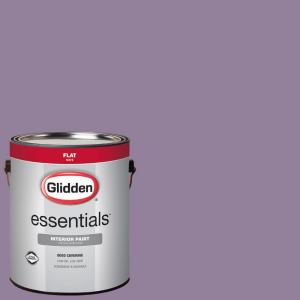 Glidden Essentials 1 Gal Hdgv59d Purple Foxglove Flower Flat Interior Paint Hdgv59de 01fn The Home Depot