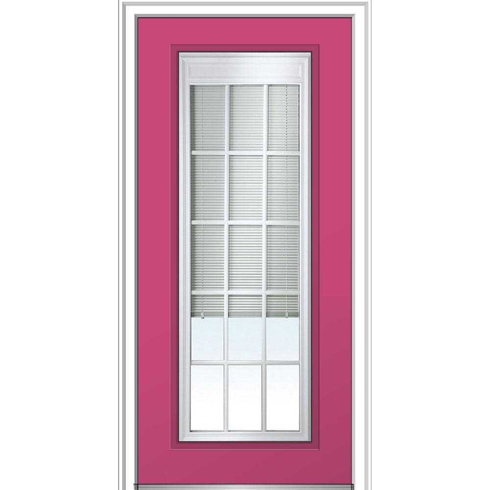 Mmi Door 36 In X 80 In Internal Blinds Gbg Lowe Glass
