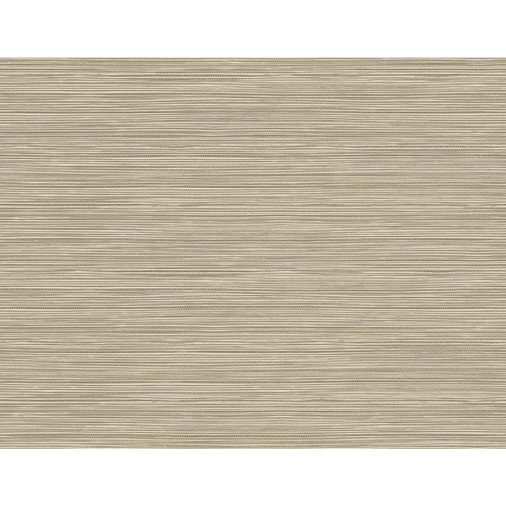 60.8 sq. ft. Bondi Beige Grasscloth Texture Wallpaper