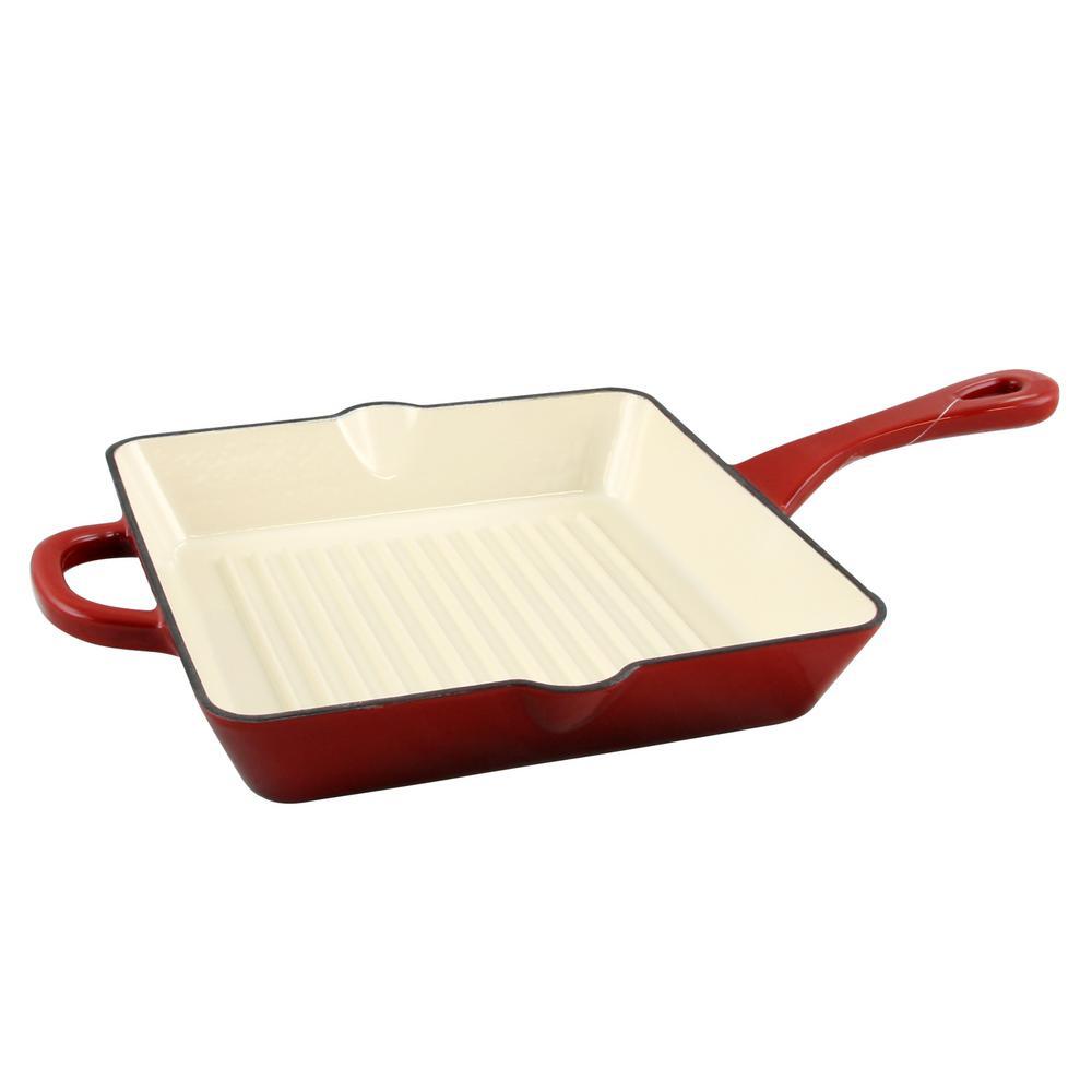 Artisan Enameled Cast Iron Grill Pan