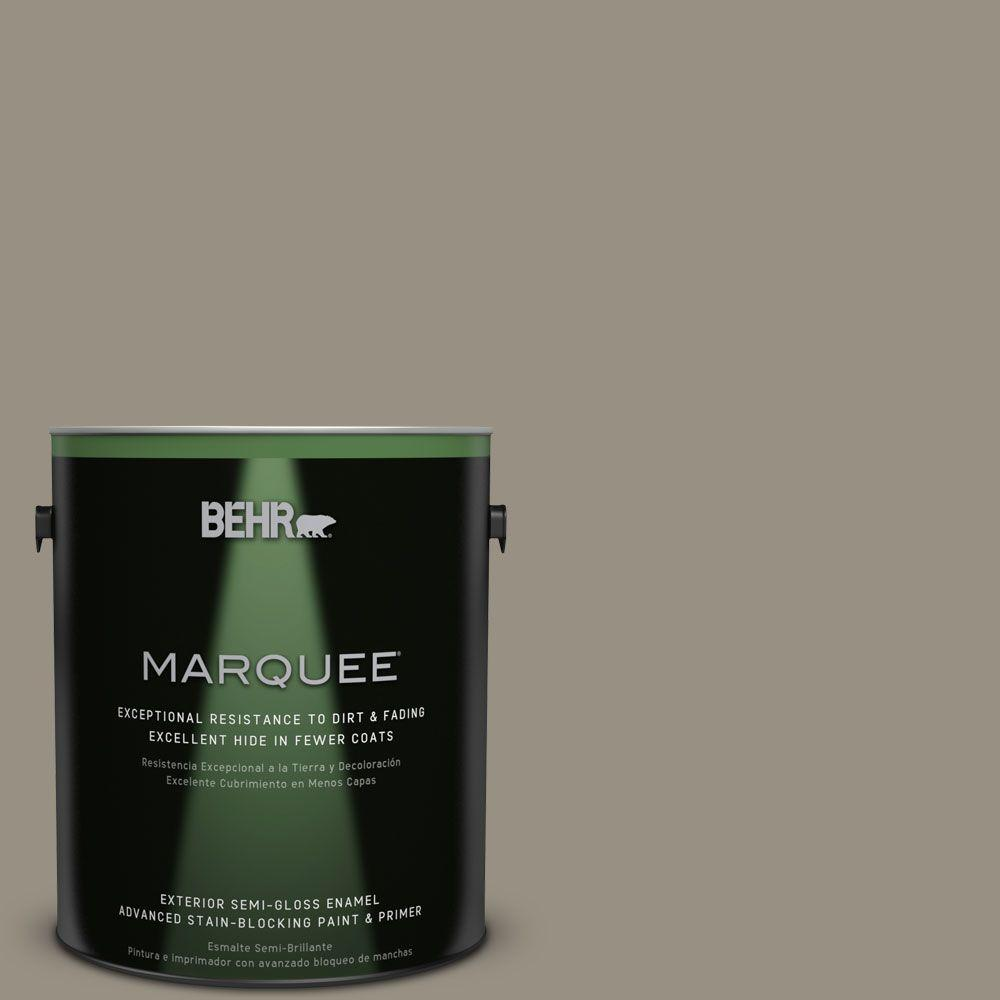 Behr Marquee 1 Gal N320 5 Gray Squirrel Semi Gloss Enamel Exterior Paint 545401 The Home Depot
