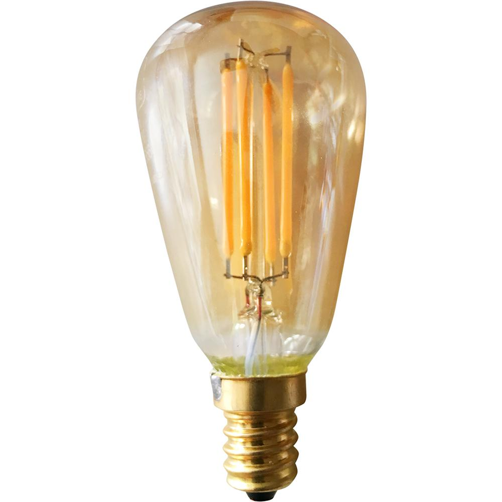 Light Bulb Home Depot: Meridian 40-Watt Equivalent Warm White ST15 Vintage LED