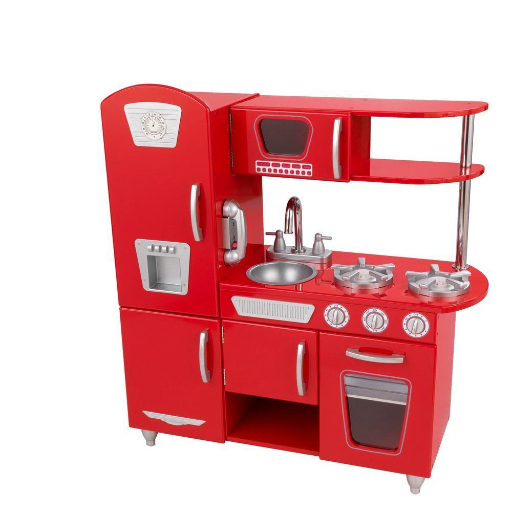KidKraft Pink Vintage Kitchen Playset-53179 - The Home Depot