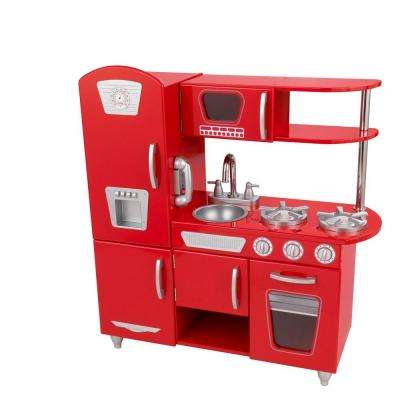 Red Vintage Kitchen Playset