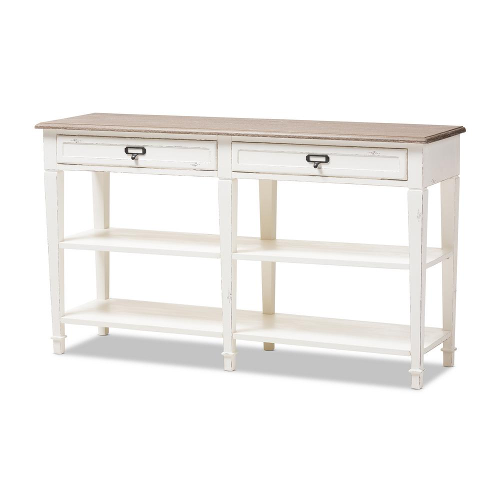 Baxton Studio Dauphine White Console Table