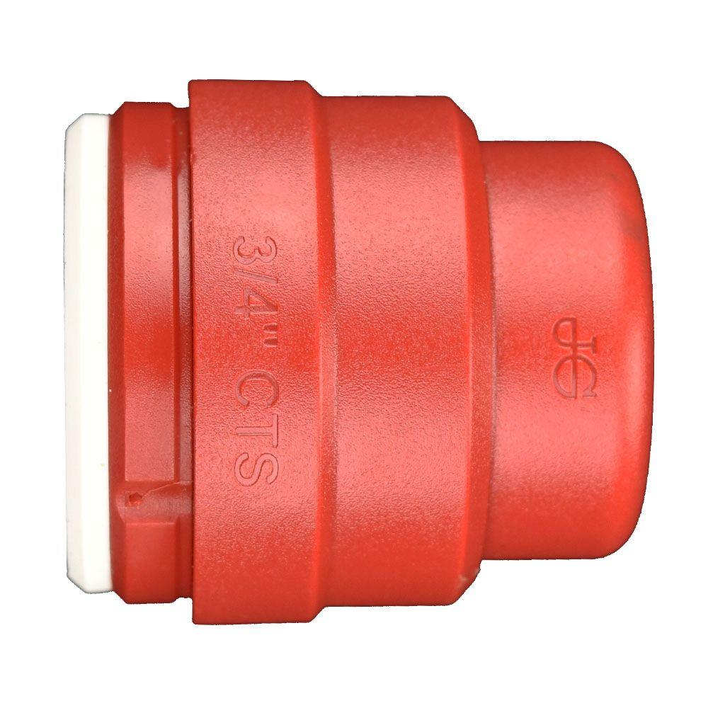 3/4 in. Red Plastic Push-to-Connect End Cap Contractor Pack (5-Pack)