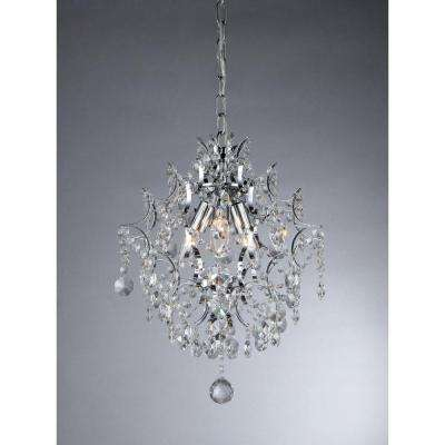 Ellaisse 3-Light Chrome Crystal Chandelier