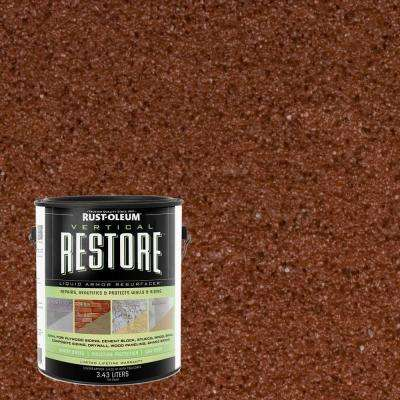 1-gal. Navajo Red Vertical Liquid Armor Resurfacer for Walls and Siding