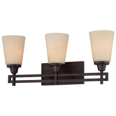 Wright 3-Light Espresso Bath Fixture