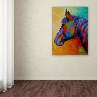 "32 in. x 24 in. ""Casino Bay Horse 1"" by Marion Rose Printed Canvas Wall Art"