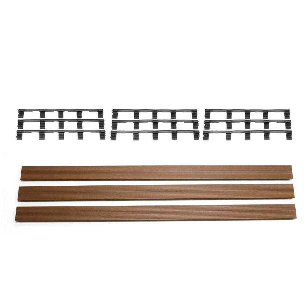 Deck-A-Floor Premium Peruvian Teak Fascia Kit (3-Pieces/Box)