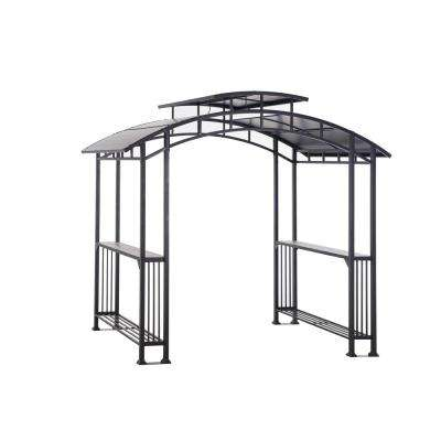 Bar Harbor 5 ft. x 8 ft. Brown Hard Top Grill Gazebo