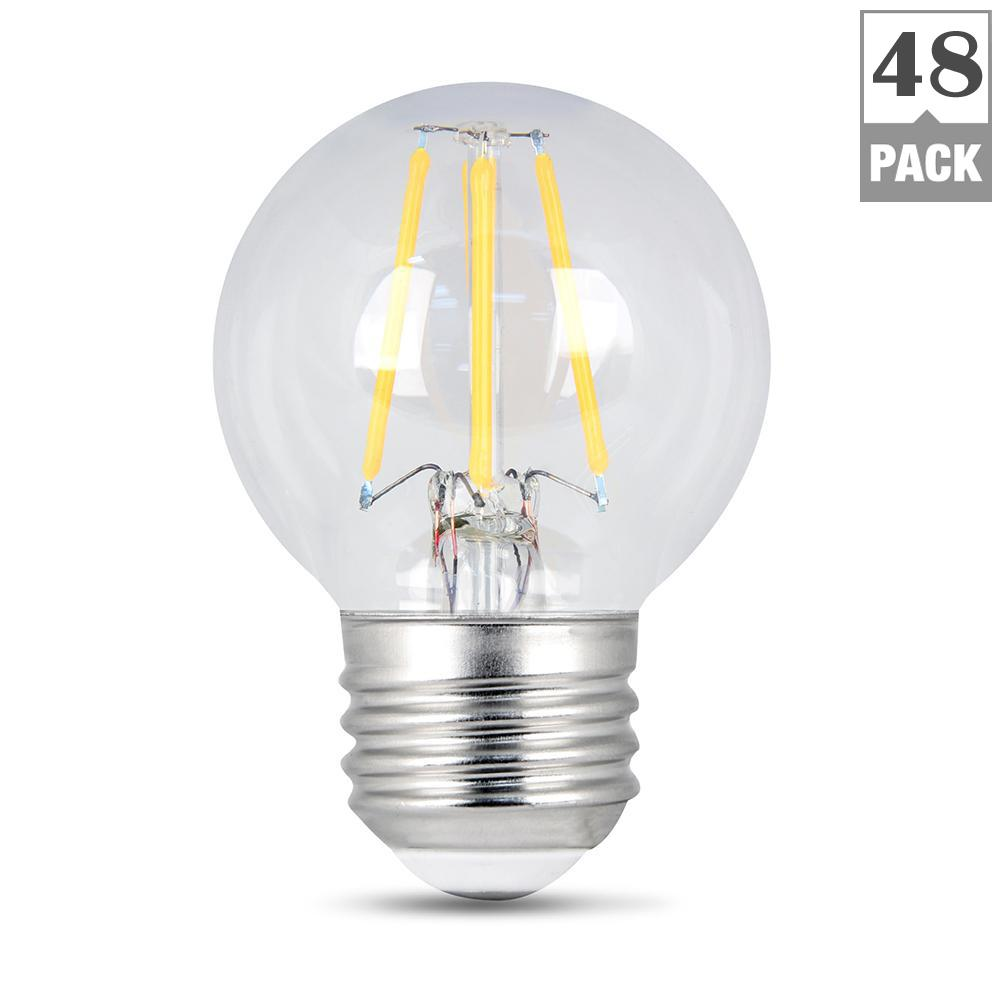 40W Equivalent Soft White G16.5 Dimmable Clear Filament LED Medium Base