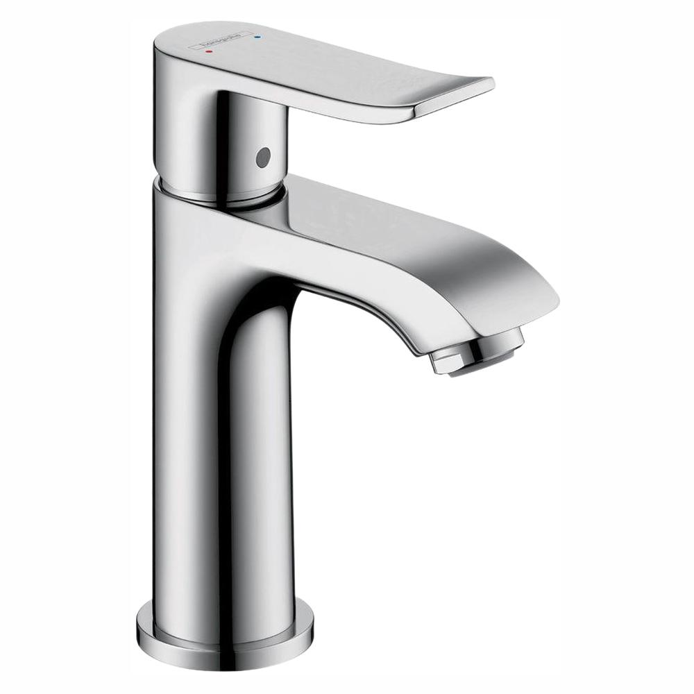 Hansgrohe Metris E 100 Single Hole 1 Handle Low Arc Bathroom Faucet In Chrome