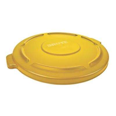 Brute 32 Gal. Yellow Round Vented Trash Can Lid