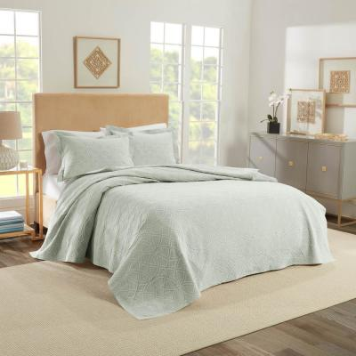 Williamsburg Green Twin Richmond Coverlet Royal Heritage Home 048975018422