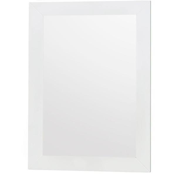 Lucy 24 in. W x 33 in. H Framed Rectangular Bathroom Vanity Mirror in White