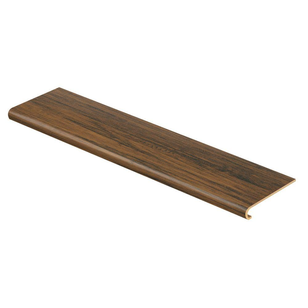 Cap A Tread Espresso Pecan 47 in. Long x 12-1/8 in. Deep x 1-11/16 in. Height Laminate to Cover Stairs 1 in. Thick