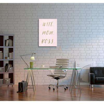24 in. x 16 in. 'Wife Mom Boss' by Oliver Gal Printed Framed Canvas Wall Art